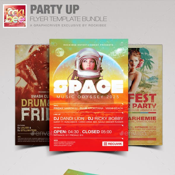 Party Up Flyer Template Bundle