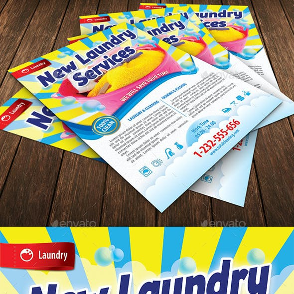 New Laundry Services Flyer Template 116