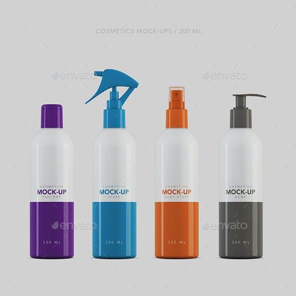 Cosmetics Packaging Mockup 200ml