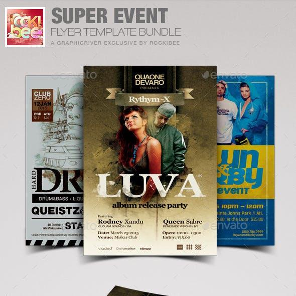 Super Event Flyer Template Bundle