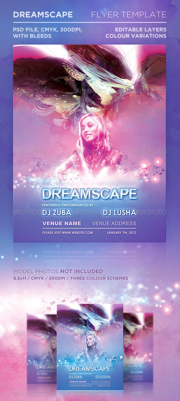 Dreamscape Flyer Template - Clubs & Parties Events