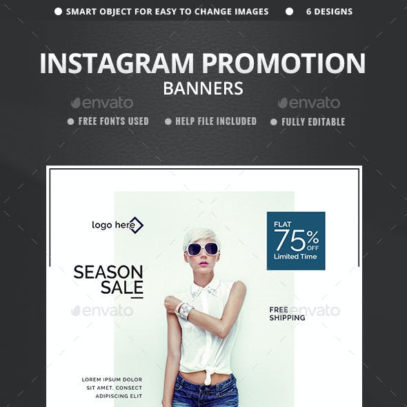 Sales Instagram Banners - 6 Templates