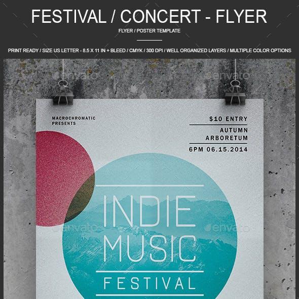Festival / Concert - Flyer