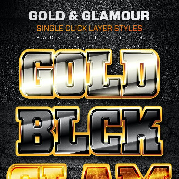 Gold and Glamour Layer Styles