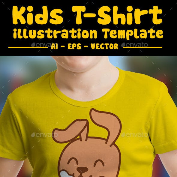 Dog Kids T-Shirt Design