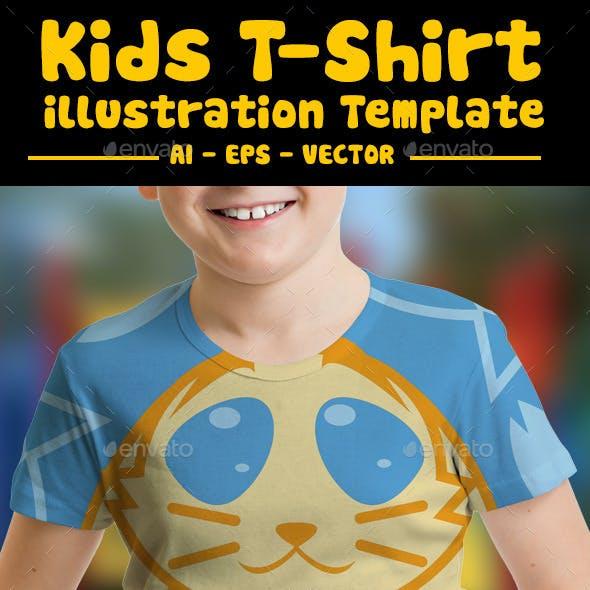 Kitty Kids T-Shirt Design