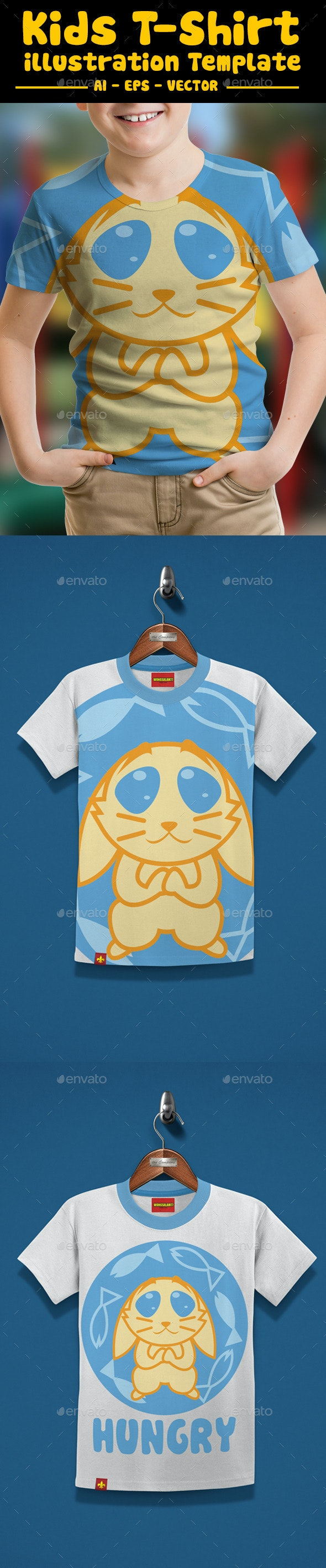 Kitty Kids T-Shirt Design