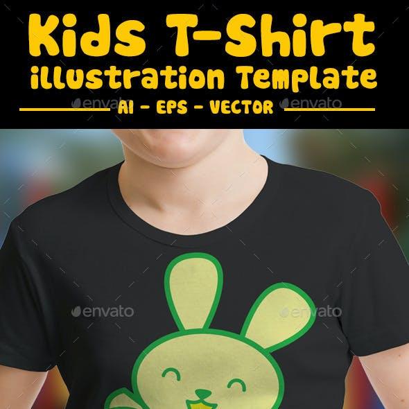 Rabbit Kids T-Shirt Design