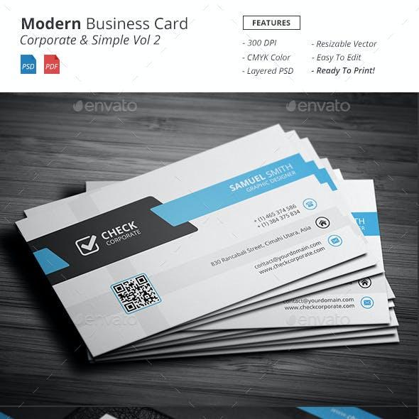 Modern - Corporate Business Card Vol 2