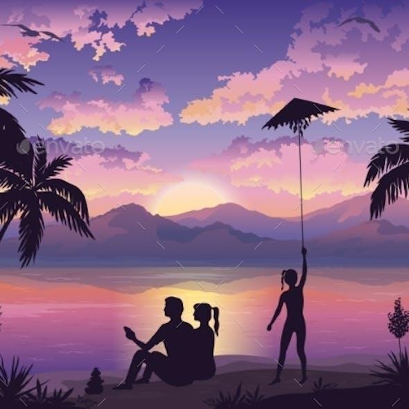 People On Tropical Beach