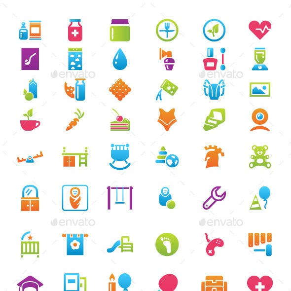 Baby's Things Icon Set