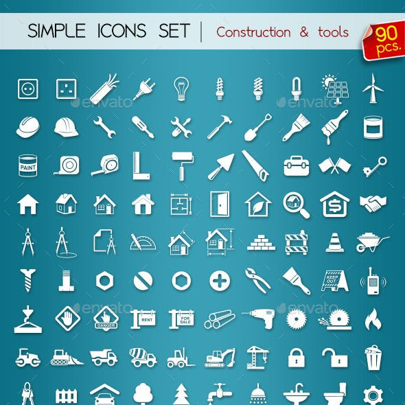 90 Simple Icons • Construction •
