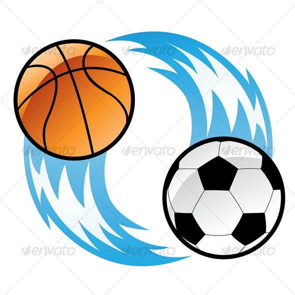 football and basketball - Sports/Activity Conceptual