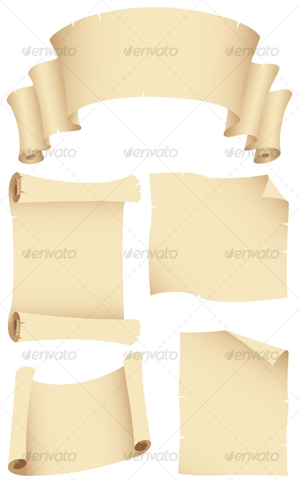 ancient banners and manuscripts - Backgrounds Decorative