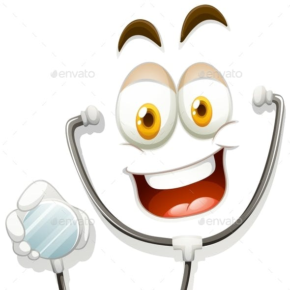 Happy Face with Stethoscope