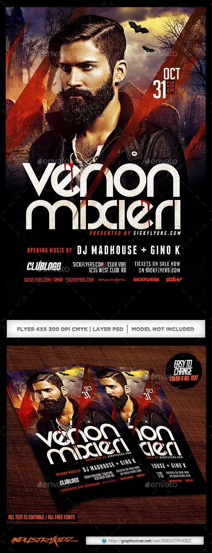 Halloween Dj Flyer - Clubs & Parties Events