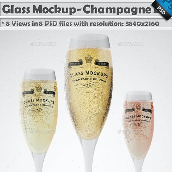 Glass Mockup - Champagne Glass Mockup Volume 8