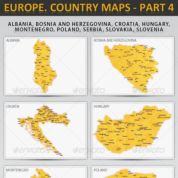 Europe. Country maps - part 4