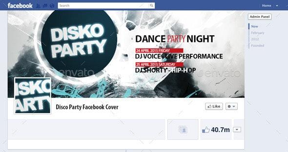 Disco Party Facebook Cover - Facebook Timeline Covers Social Media