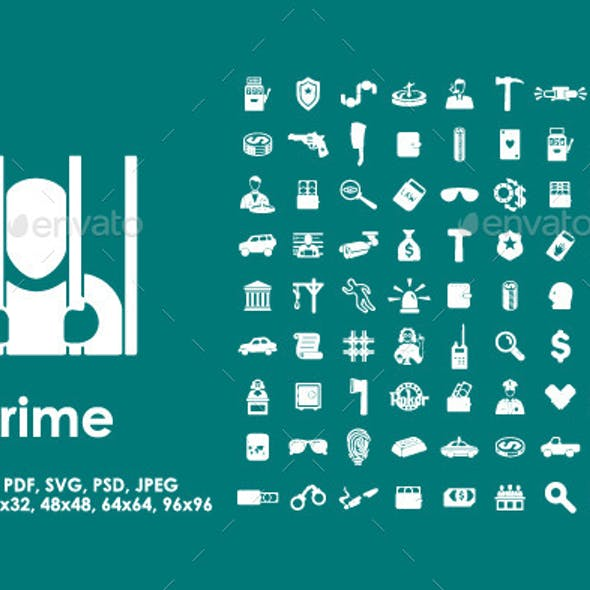 81 Crime Icons