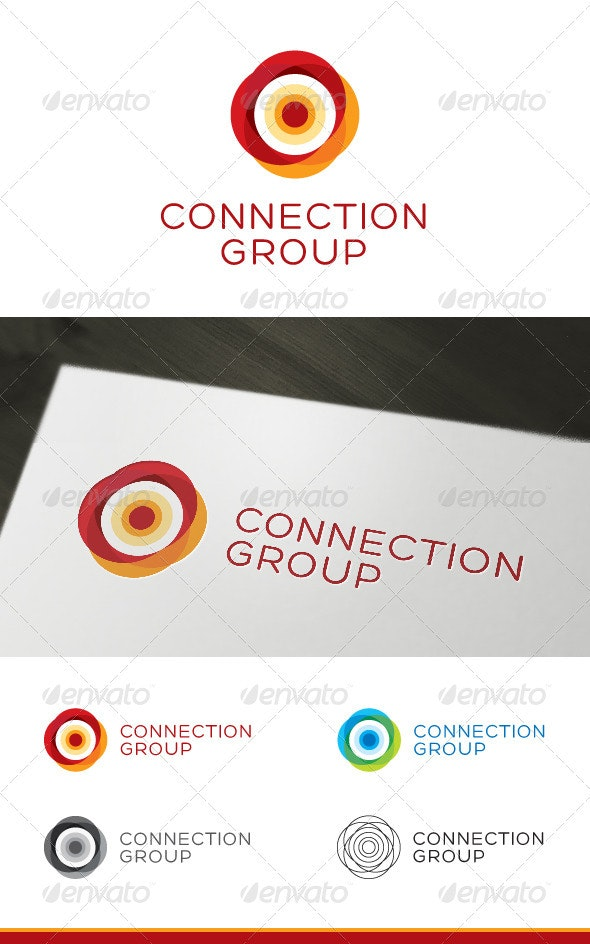 Connection Group - Logo Template - Vector Abstract
