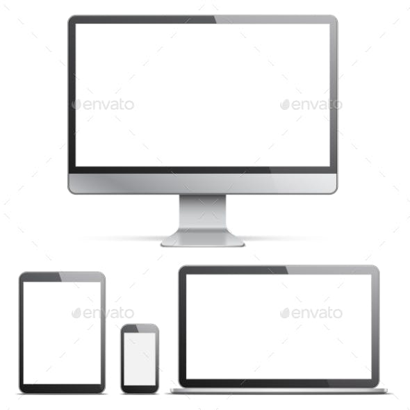 Electronic Devices With White Screens