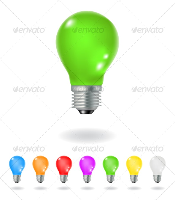 colorful bulbs - Man-made Objects Objects