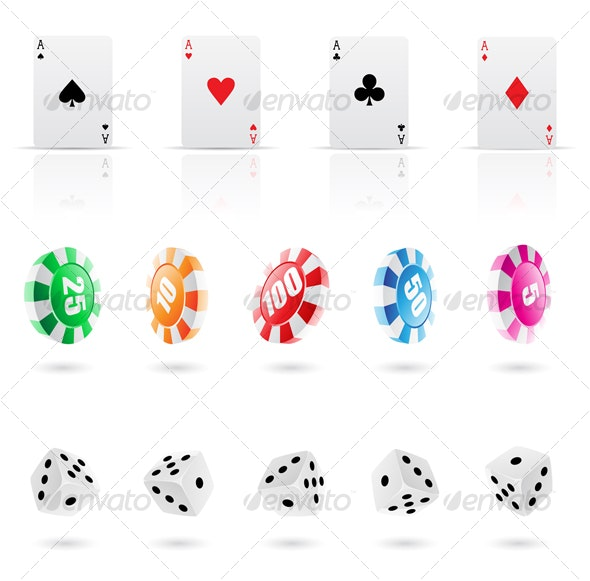 casino elements, icons