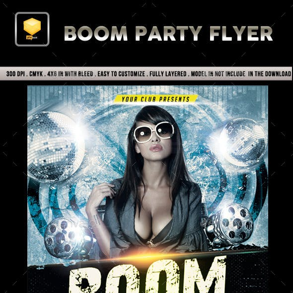 Boom Party Flyer