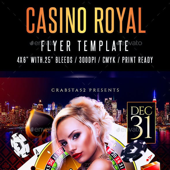 Casino Royal Flyer Template