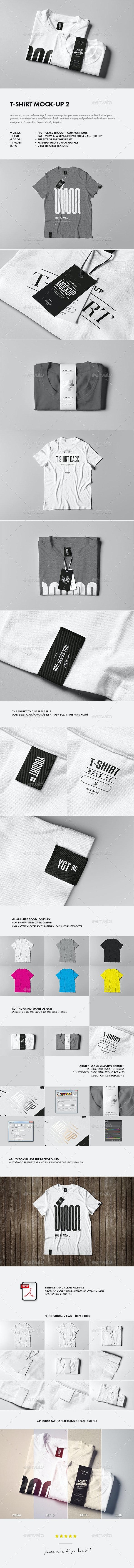 T-Shirt Mock-up 2 - T-shirts Apparel
