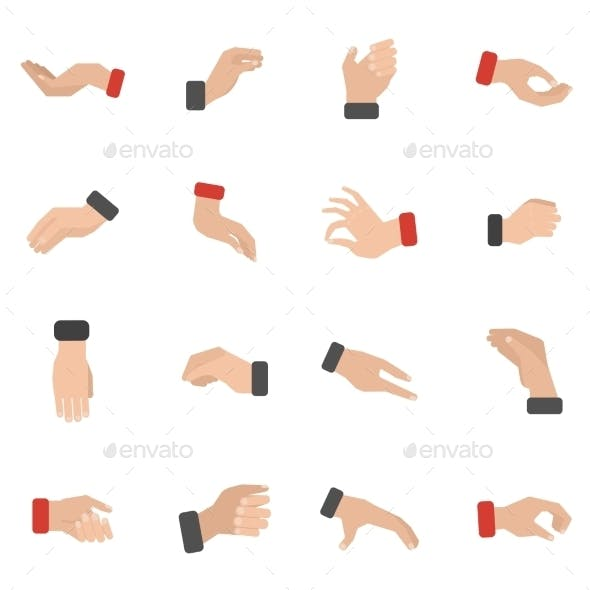 Grabbing Hand Icons Set
