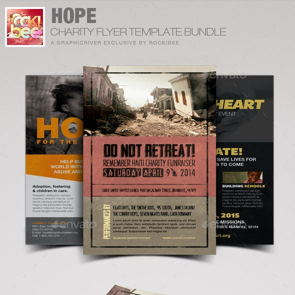 Hope Charity Flyer Template Bundle
