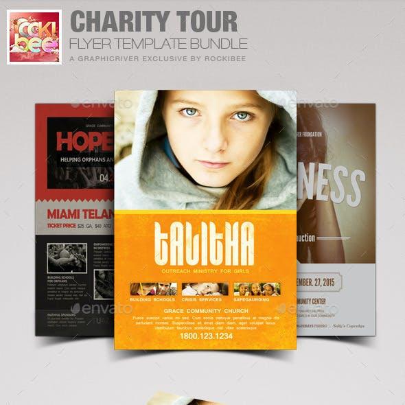 Charity Tour Flyer Template Bundle