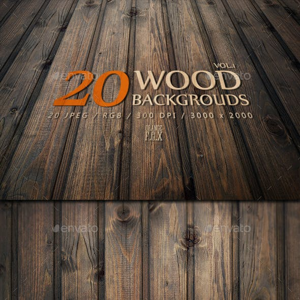 20 Wood Backgrounds - VOL.1