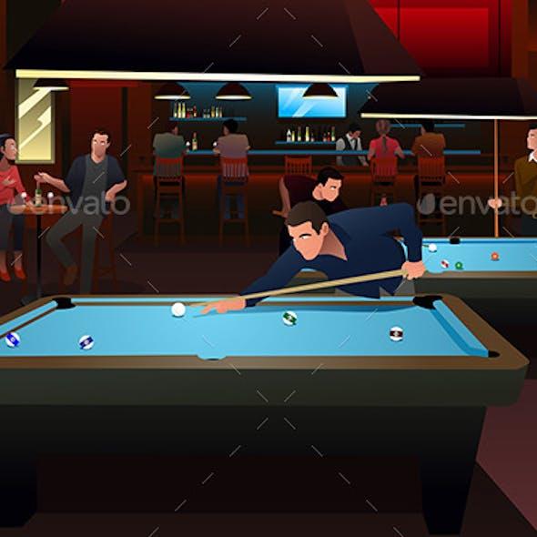 People Playing Billiard