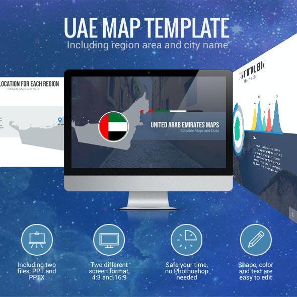 United Arab Emirates - Editable Map Presentation