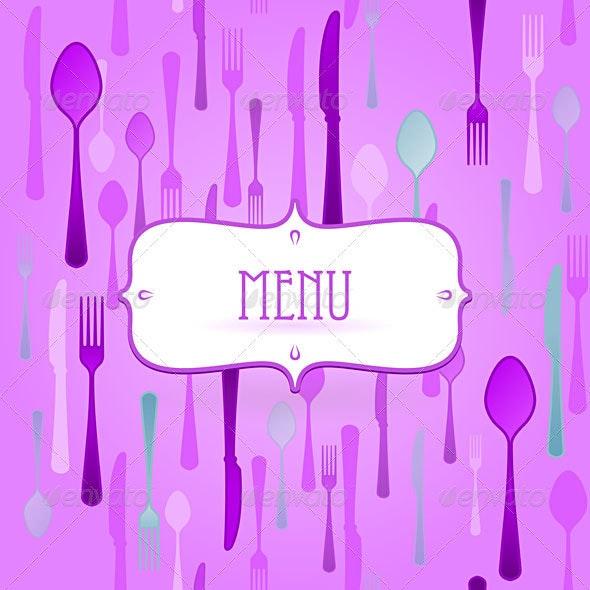 Violet Restaurant Card - Conceptual Vectors