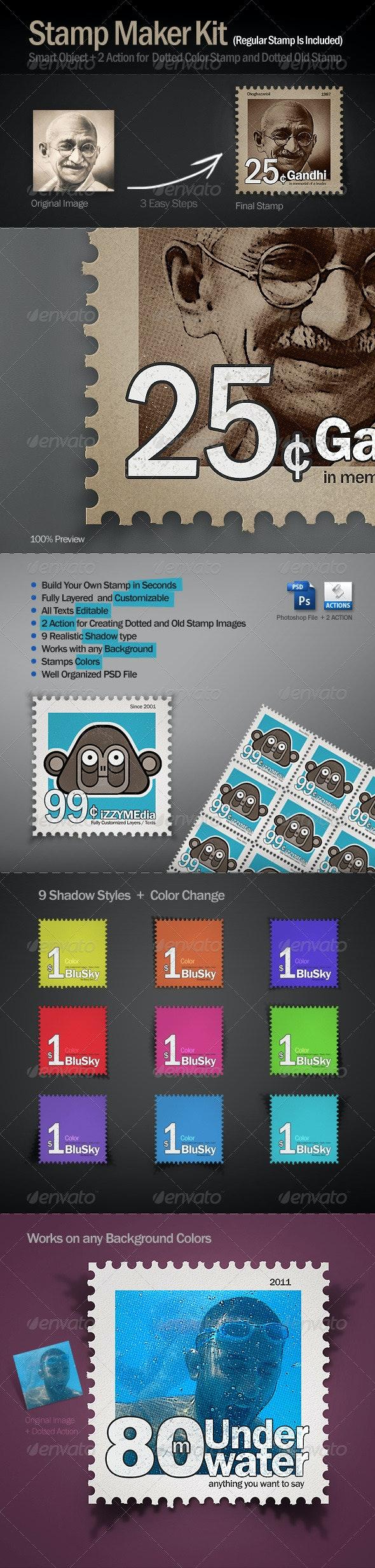 Stamp Maker Kit - Photo Templates Graphics