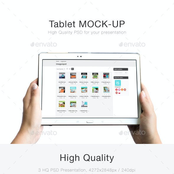 3 Tablet Mockups with Customized Background