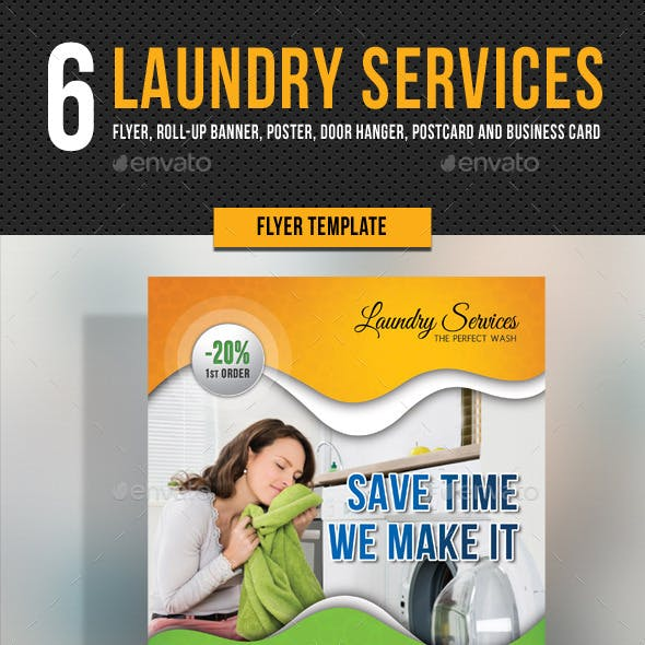 Laundry Banner Graphics, Designs & Templates from GraphicRiver