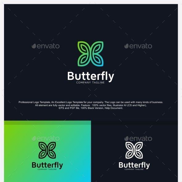 Butterfly - Fashion Logo