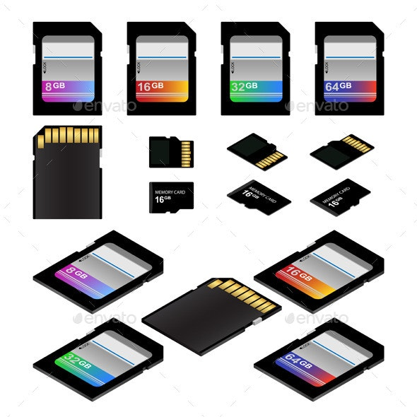 SD Memory Cards - Man-made Objects Objects