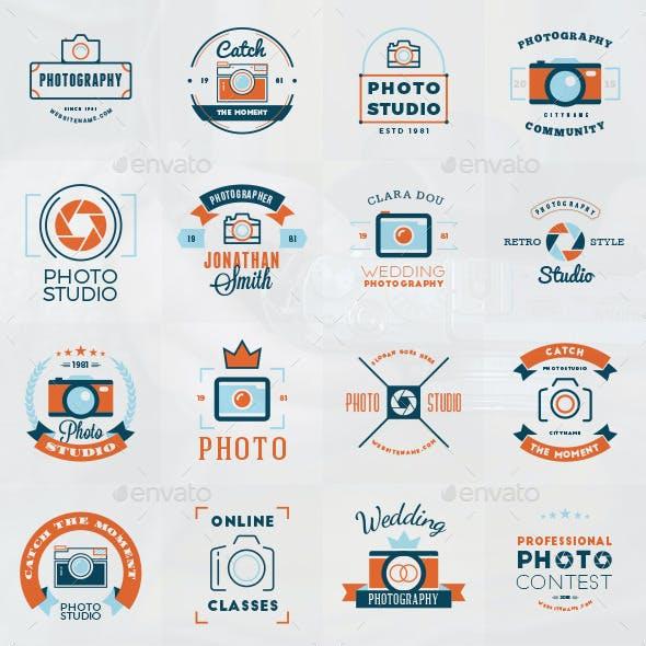 Set of 16 Photography Logos