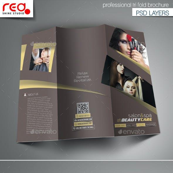 Salon Tri-Fold Brochure Template