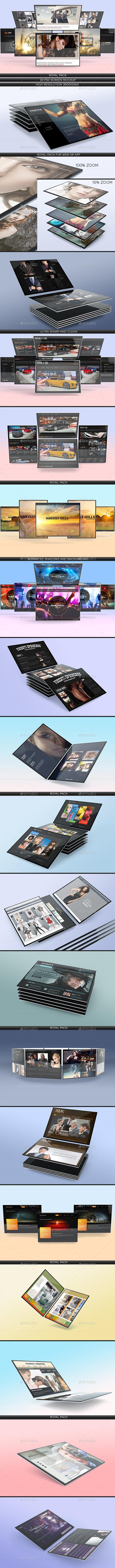 Screen Mockup Pack - Displays Product Mock-Ups