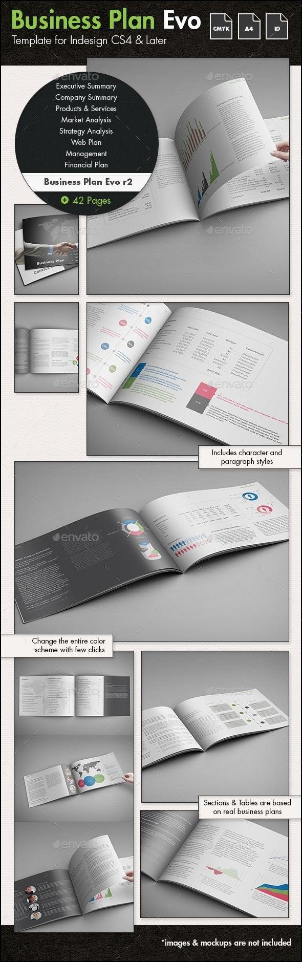 Business Plan Evolved r2 - A4 Landscape Template - Informational Brochures