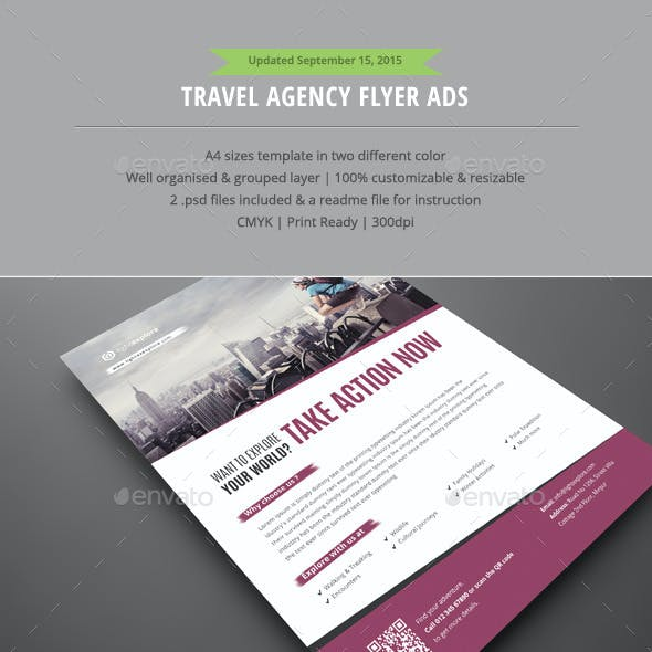 Travel Agency Flyer Ads