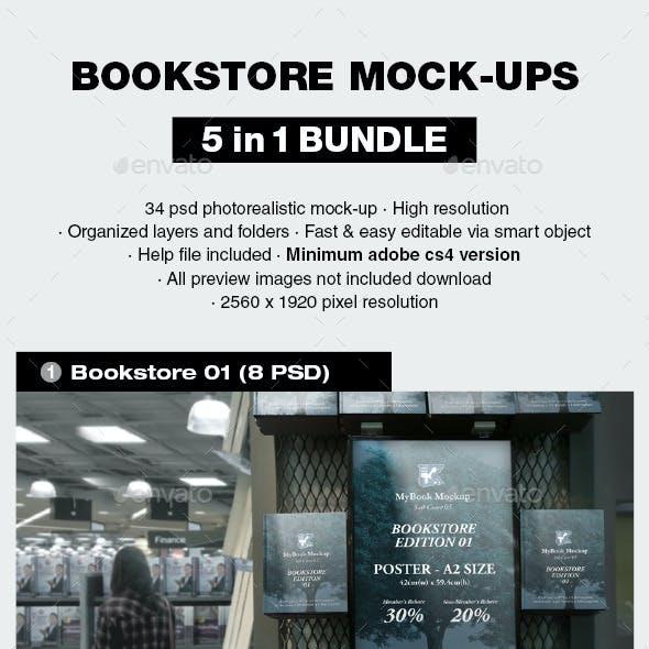 Bookstore Mock-up Bundle 01