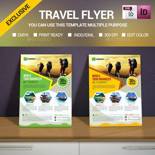 Travel/Tour flyer Template